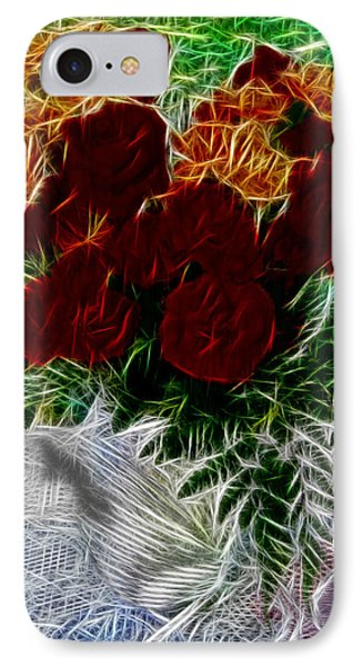 IPhone Case featuring the photograph A Vase Of Standing Roses by Mario Carini