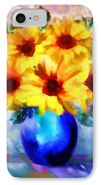 A Vase Of Sunflowers Phone Case by Valerie Anne Kelly
