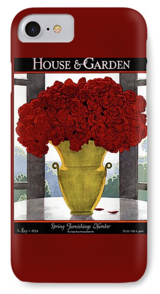 A Vase With Red Roses IPhone Case by Andre E.  Marty