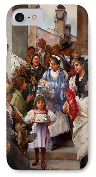 A Venetian Christening Party, 1896 IPhone Case by Henry Woods