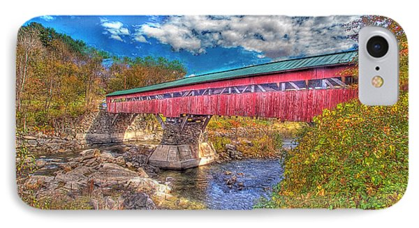 A Vermont Covered Bridge Taftsville Covered Bridge IPhone Case by Constantine Gregory