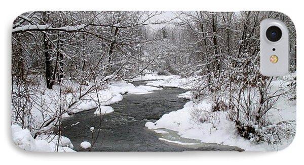 A Vermont Stream In Winter IPhone Case