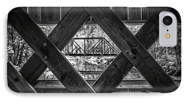 A View From An Old Covered Bridge In Vermont IPhone Case