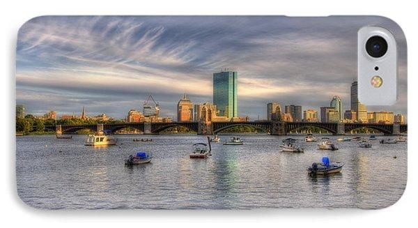 A View Of Back Bay - Boston Skyline Phone Case by Joann Vitali