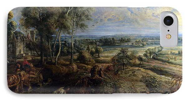 A View Of Het Steen In The Early Morning IPhone Case by Peter Paul Rubens