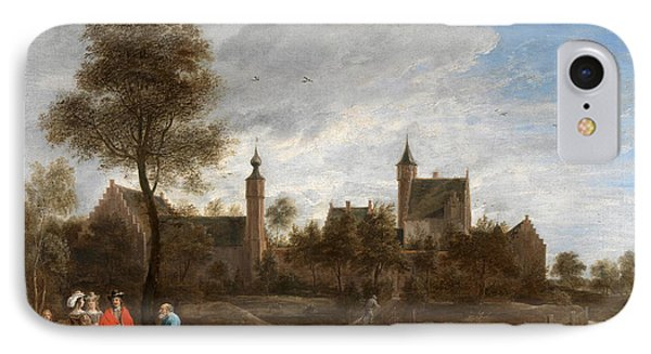 A View Of Het Sterckshof Near Antwerp IPhone Case by David Teniers the Younger