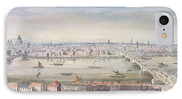 A View Of London From St Pauls To The Custom House, 1837 IPhone Case by Gideon Yates