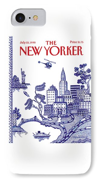 Helicopter iPhone 7 Case - A View Of New York City by Pamela Paparone
