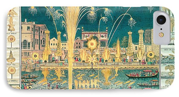 A View Of The Fireworks And Illuminations At His Grace The Duke Of Richmonds At Whitehall IPhone Case by English School
