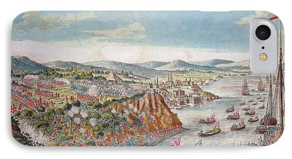 A View Of The Taking Of Quebec, September 13th 1759 Colour Engraving IPhone Case by English School