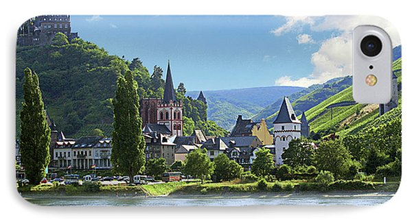 A View Of The Village Of Bacharach IPhone Case by Miva Stock