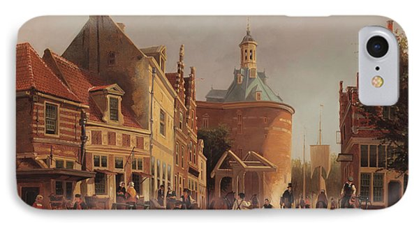 A View Of The Zuiderspui IPhone Case