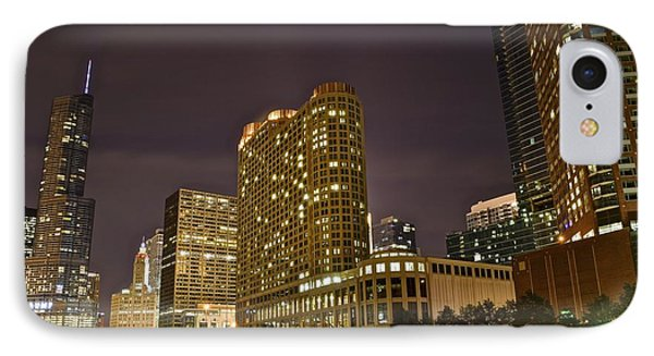 A View Over The Chicago River IPhone Case