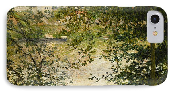 A View Through The Trees Of La Grande Jatte Island Phone Case by Claude Monet