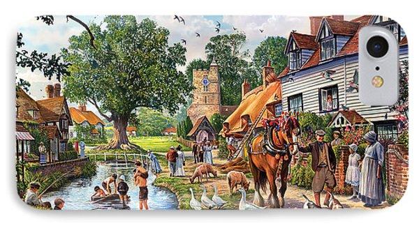 A Village In Summer IPhone Case by Steve Crisp