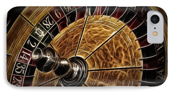 IPhone Case featuring the photograph A Virginia City Roulette Wheel by Brad Allen Fine Art