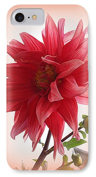 A Vision In  Coral - Dahlia IPhone Case