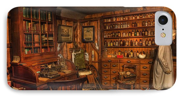 A Visit To The Doctor's Office - Old Time Physician Office - Doctors - Pharmacists - Opticians Phone Case by Lee Dos Santos
