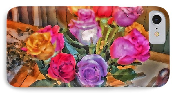 A Vivid Rose Bouquet For You Phone Case by Thomas Woolworth