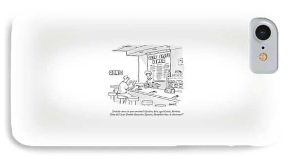 A Waitress Takes A Man's Order In A Diner IPhone Case by Jack Ziegler