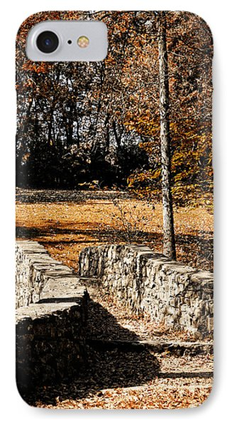 A Walk Along The Old Stone Path IPhone Case