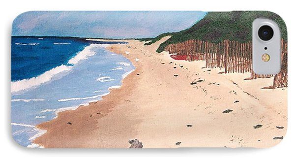 IPhone Case featuring the painting A Walk In Nantucket by Cynthia Morgan