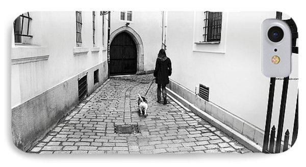 A Walk In Prague Phone Case by John Rizzuto