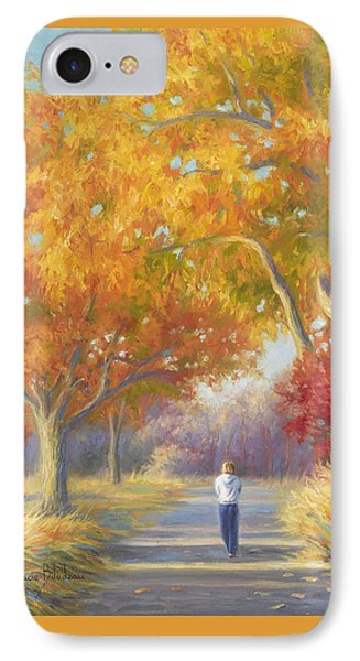A Walk In The Fall Phone Case by Lucie Bilodeau