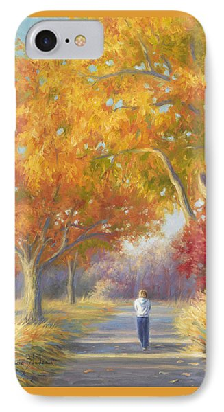 A Walk In The Fall IPhone Case by Lucie Bilodeau