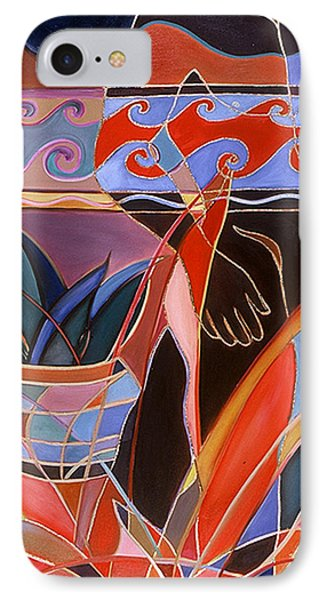 IPhone Case featuring the painting A Walk In The Garden by Carolyn Goodridge