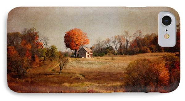 A Walk In The Meadow With Texture IPhone Case by Trina  Ansel