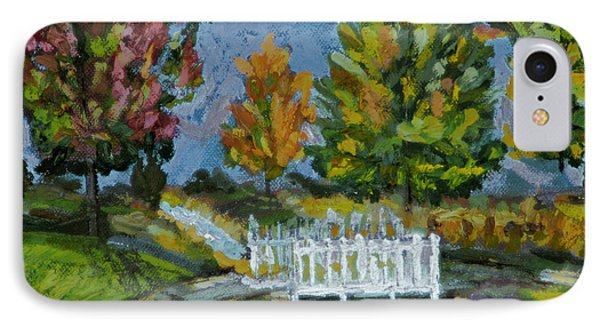 IPhone Case featuring the painting A Walk In The Park by Michael Daniels