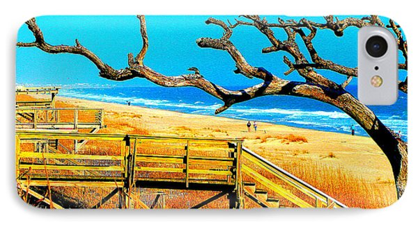 A Walk On Atlantic Beach Phone Case by Mj Carbo