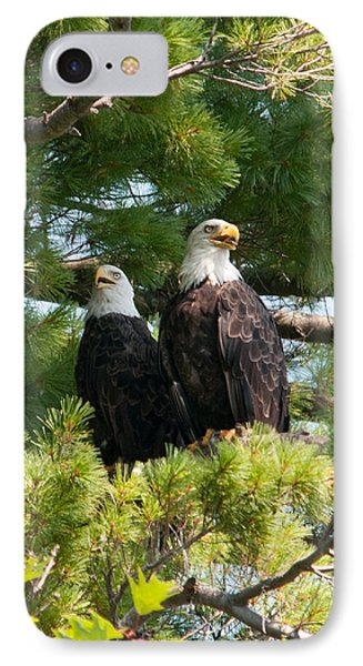 A Watchful Pair IPhone Case by Brenda Jacobs