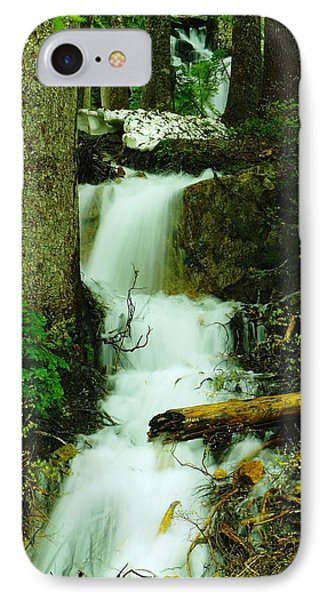 A Waterfall In Spring Thaw Phone Case by Jeff Swan