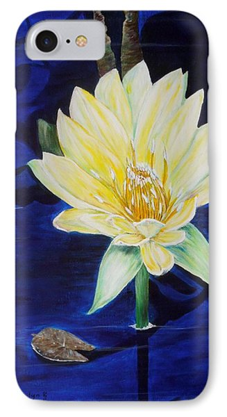 IPhone Case featuring the painting A Waterlily by Marilyn  McNish