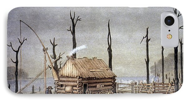 A Western Farm Site, 1822 IPhone Case by Granger