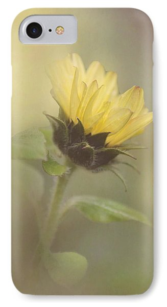 A Whisper Of A Sunflower Phone Case by Angie Vogel