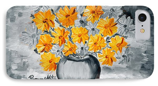 A Whole Bunch Of Daisies Selective Color I IPhone Case by Ramona Matei