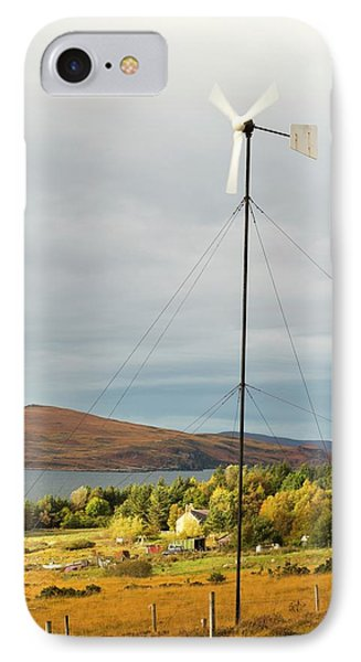 A Wind Turbine In Scoraig IPhone Case by Ashley Cooper