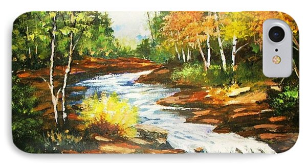 IPhone Case featuring the painting A Winding Creekbed by Al Brown