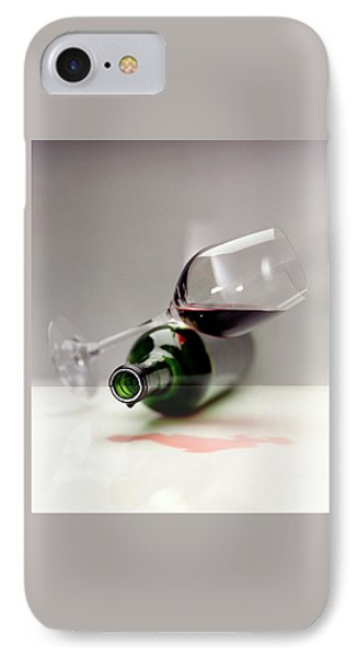 A Wine Bottle And A Glass Of Wine IPhone Case
