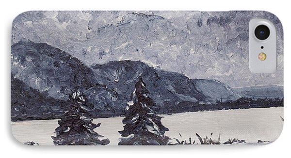 A Winter Evening Phone Case by Monica Veraguth
