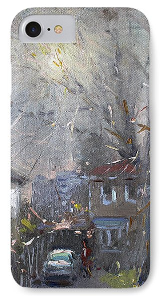 A Hazy Winter Day IPhone Case by Ylli Haruni