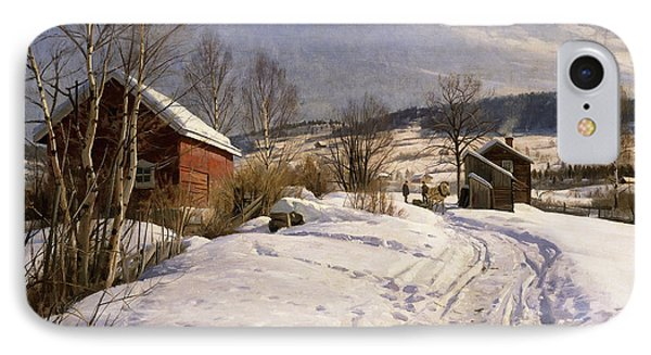 A Winter Landscape Lillehammer IPhone Case