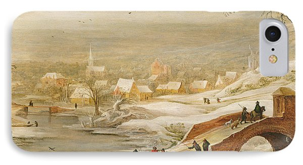 A Winter River Landscape IPhone Case by Joos or Josse de, The Younger Momper