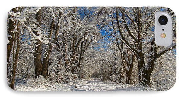 IPhone Case featuring the photograph A Winter Road by Raymond Salani III