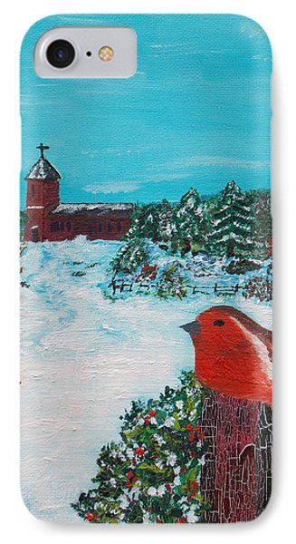 IPhone Case featuring the painting A Winter Scene by Martin Blakeley