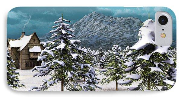 IPhone Case featuring the digital art A Winter Scene... by Tim Fillingim