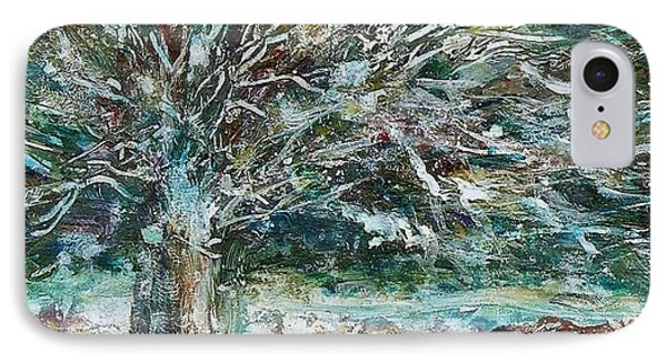 A Winter Tree IPhone Case by Mary Wolf